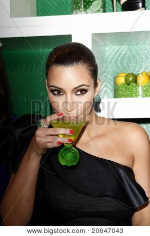 WEST HOLLYWOOD, CA - MAY 10: Kim Kardashian attends the Midori Melon Liqueur Trunk Show at Trousdale on May 10, 2011 in West Hollywood, California