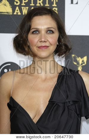 LOS ANGELES - MAY 5: Maggie Gyllenhaal at the 25th Independent Spirit Awards held at the Nokia Theater in Los Angeles on March 5, 2010.