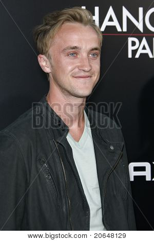 LOS ANGELES - MAY 19: Tom Felton at the premiere of 'The Hangover Part II' held at the Grauman's Chinese Theater in Los Angeles, CA on May 19, 2011.