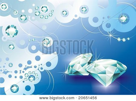 Background with jewels
