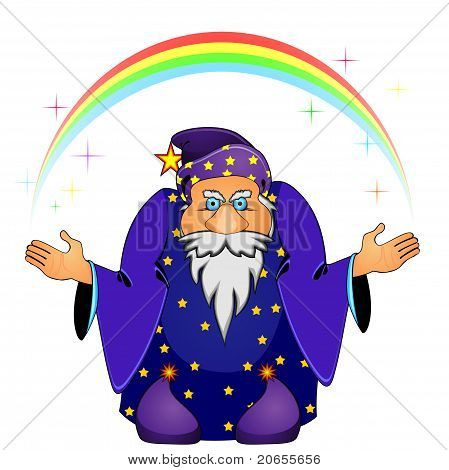 Magician With Rainbow