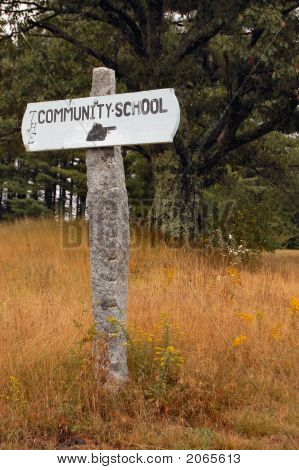 Community School Sign