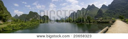 Guilin and its Li Jiang tropical river in China.
