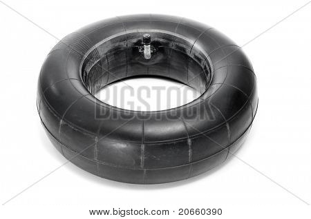 an old inner tube on a white background