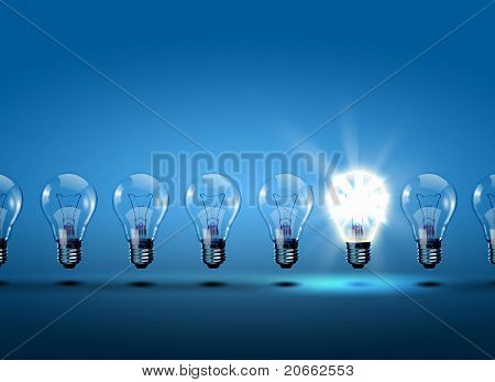 row of light bulbs