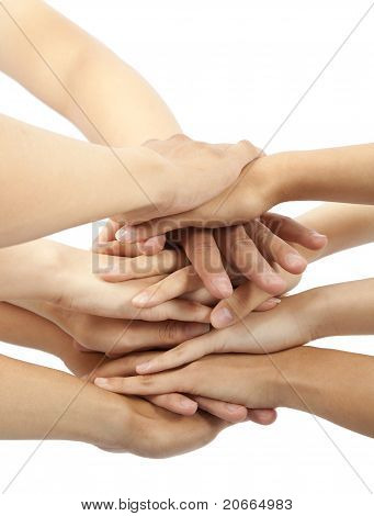 all hand together