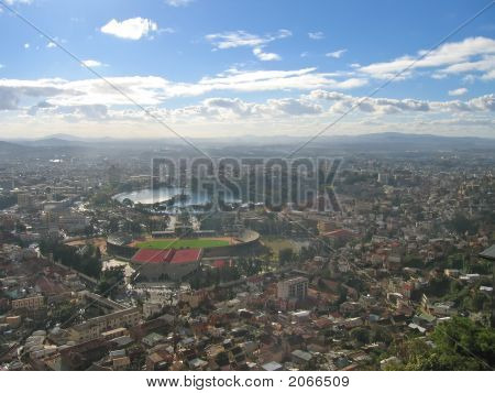 Antananarivo View From The Sky, Tanarive City, Madagascar