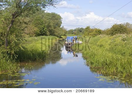 Waterway With Dredger