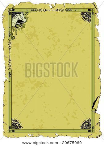 grunge background with border on hunting