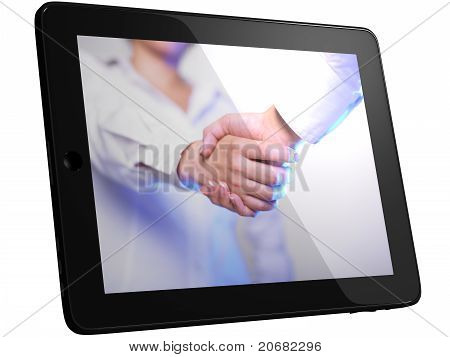 Handshaking On Tablet