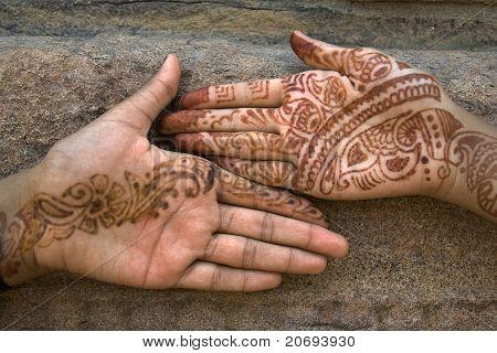 Mehandi Art On Palm