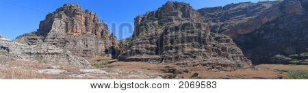 Rocky Wild Mountains, Isalo Park, Madagascar, Panoramique