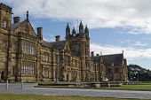 foto of quadrangles  - Gothic Revival style buildings of the University of Sydney Main Quadrangle - JPG
