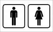 Restroom signs vector for men and women