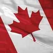 Постер, плакат: Атласная флаг Канады