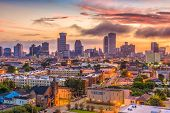 New Orleans, Louisiana, USA skyline. poster