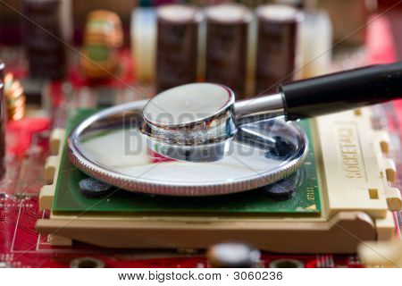 Stethoscope On The Processor