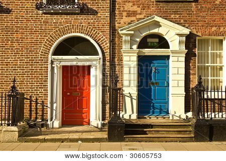 Beautiful doors in Dublin, Ireland