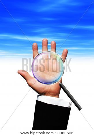 Magnifying Hand