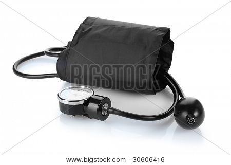 Tonómetro negro aislado en blanco