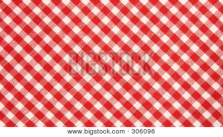Red And White Grid Cloth Pattern