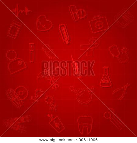 illustration of medical symbol on abstract background