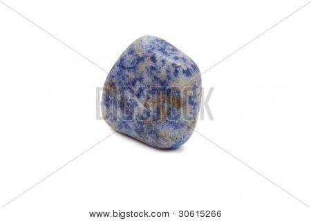 Mineral Sodalite On A White Background