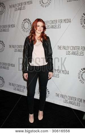 LOS ANGELES - MAR 2:  Alexandra Breckenridge arrives at the American Horror Story at PaleyFest 2012 at the Saban Theater on March 2, 2012 in Los Angeles, CA