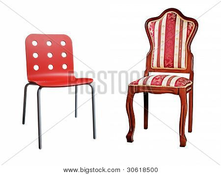 Two Chairs Isolated On White