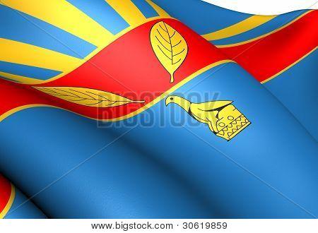 Flag Of Harare, Zimbabwe.