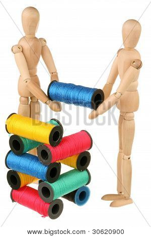 Two Dummy Stack Bobbins
