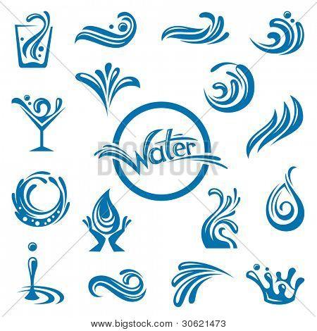 conjunto de Resumen aguas diseños