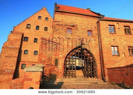 Water Gate to the old town in Grudziadz, Poland