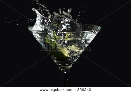 Lime Martini Splash
