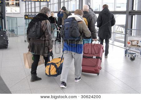 Denmark passengers At Airport
