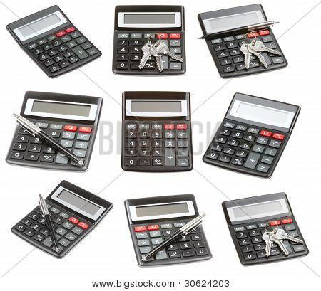 Set Of Calculator Isolated