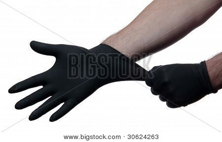 Black Medical Gloves