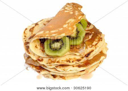 pancakes with kiwi