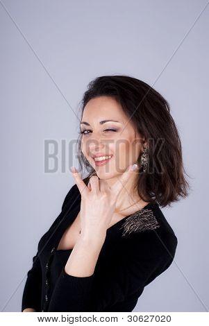 Gesture of beautiful girl