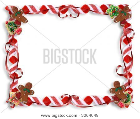 Christmas Treats Frame Background Template