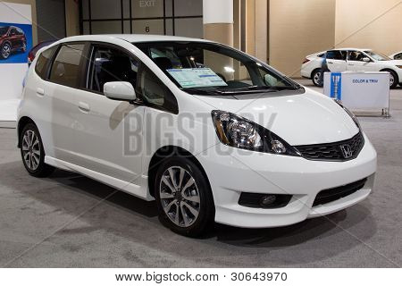 JACKSONVILLE, FLORIDA-FEBRUARY 18: A 2012 Honda Fit Sport on display at the Jacksonville Car Show on February 18, 2012 in Jacksonville, Florida.