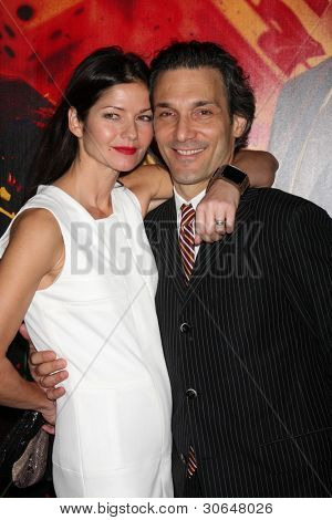 LOS ANGELES - JAN 25:  Jill Hennessy, husband arrives at  the