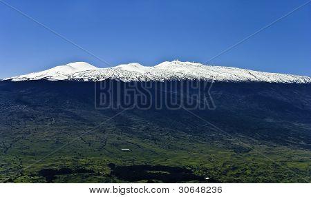 Mauna Kea Snow On Hawaii Island