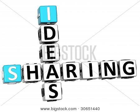 3D Sharing Ideas Crossword Cube Words