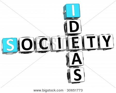 3D Society Ideas Crossword Cube Words