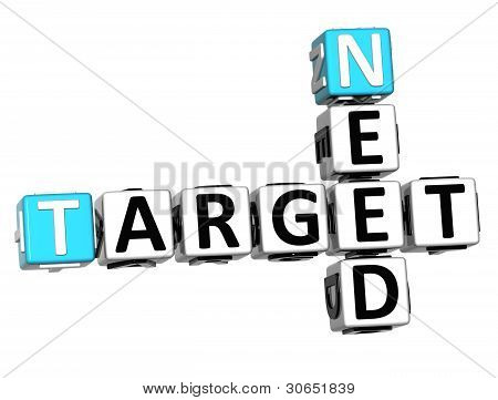 3D Need Target Crossword Cube Words