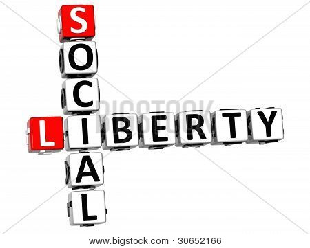 3D Social Liberty Life Crossword Cube Words