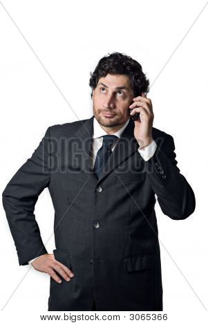 Businessman On A Mobile Phone