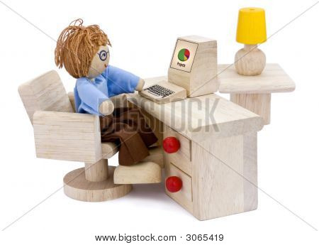 Computer Operator Working On Projects