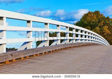 Wooden bridge in Finland